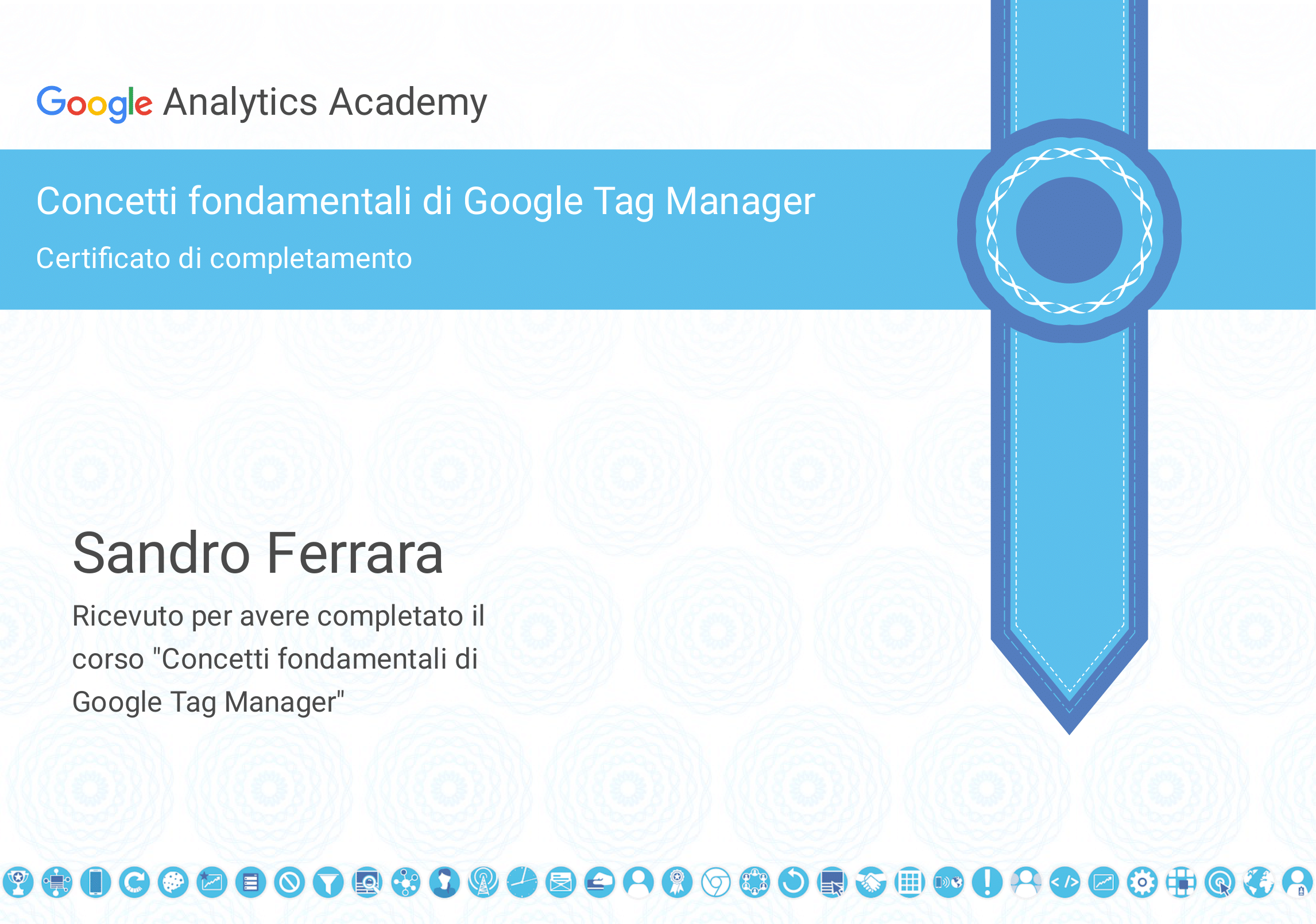GOOGLE ANALYTICS TAG MANAGER CERTIFIED